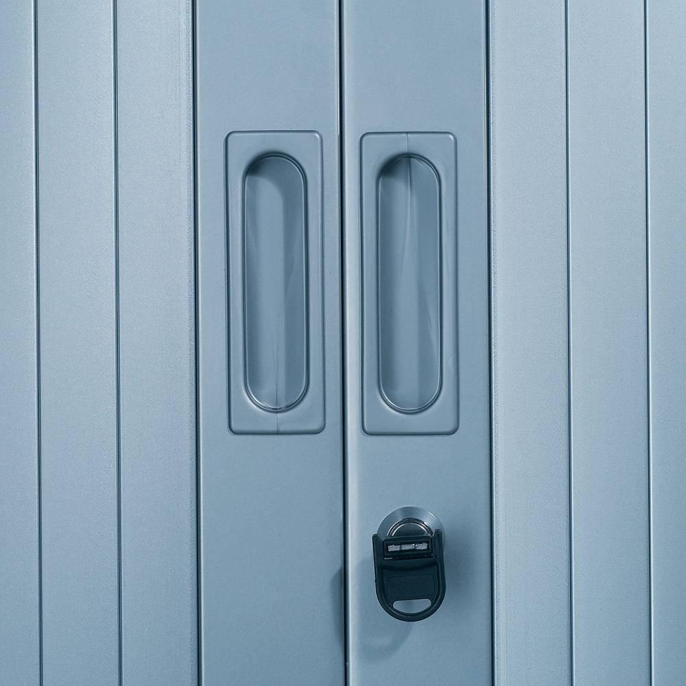 Réhausse armoire h44xl 80xp43 cm aluminium rideaux pommier honfleur