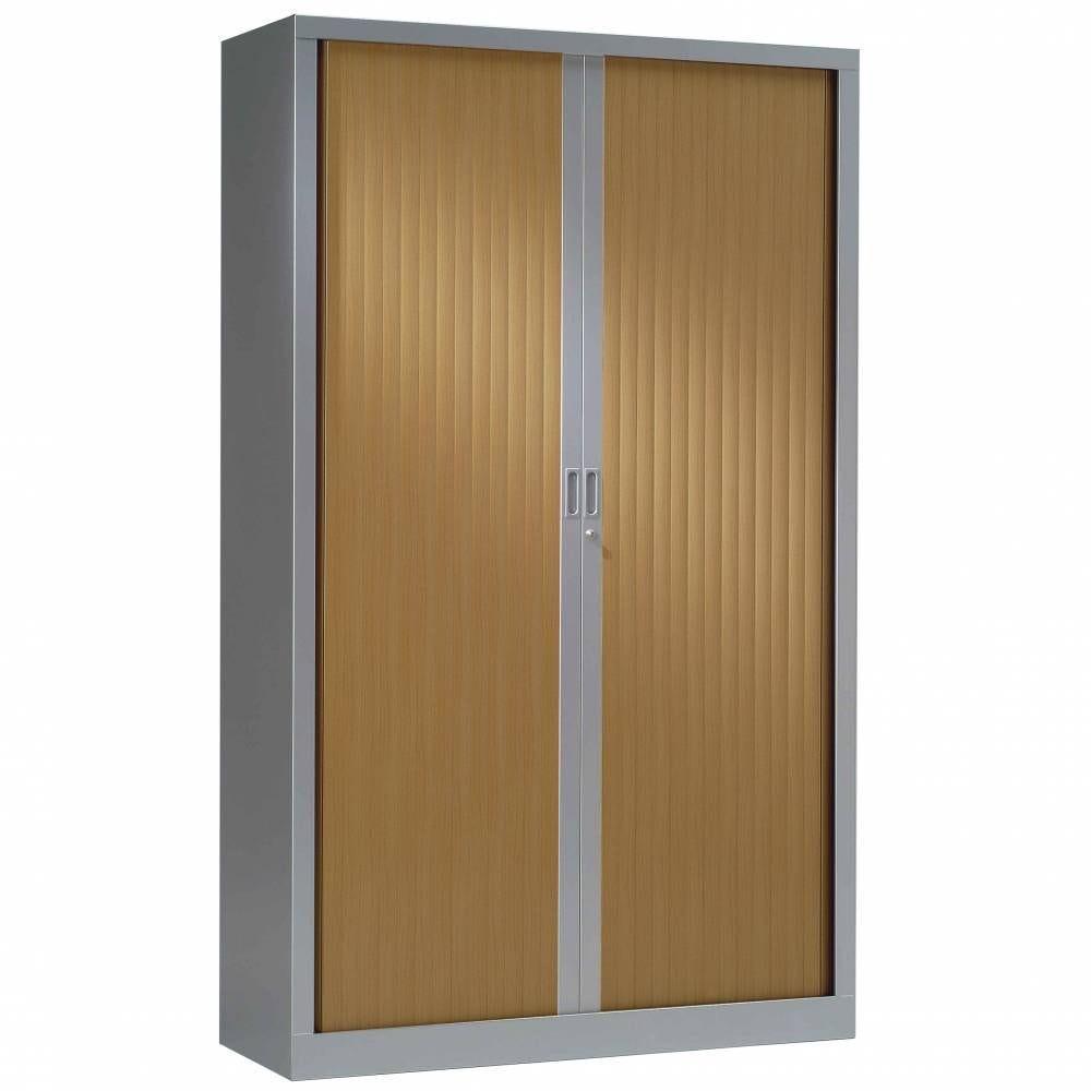 Armoire monobloc rideaux 1/3 pend h198xl120xp43 cm alu rideaux pommier honfleur