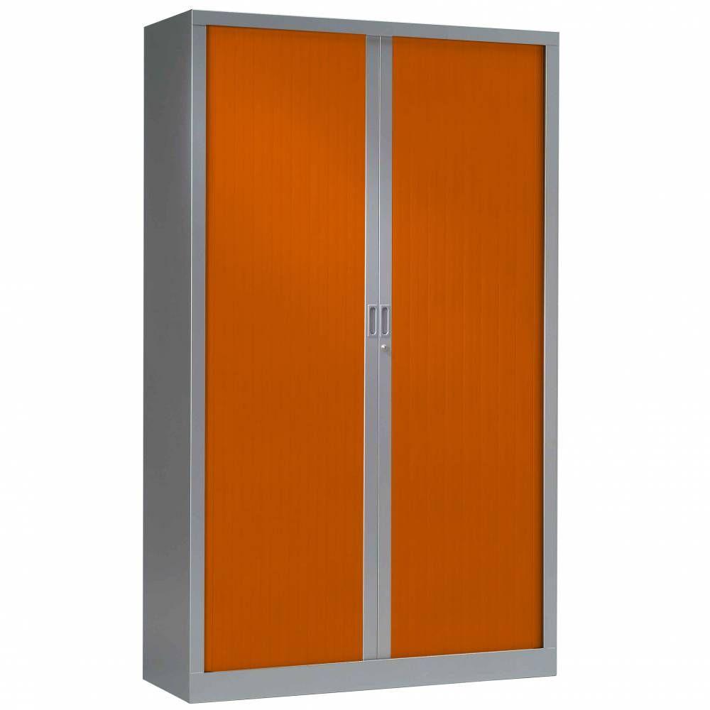 Armoire monobloc fun h198xl120xp43 cm 4 tab. Aluminium rideaux orange