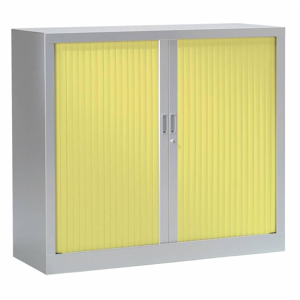 Armoire monobloc fun h100xl120xp43 cm 2 tab. Aluminium rideaux anis