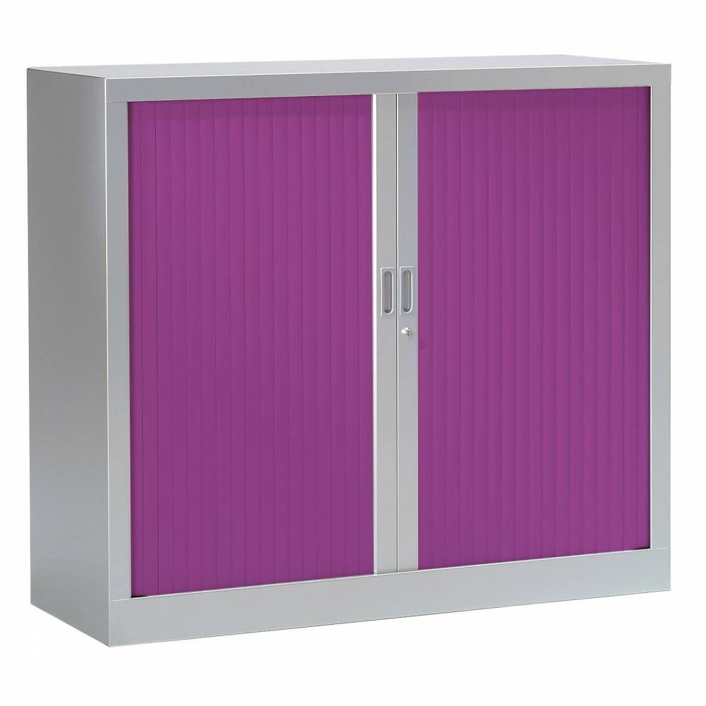 Armoire monobloc fun h100xl120xp43 cm 2 tab. Aluminium rideaux prune