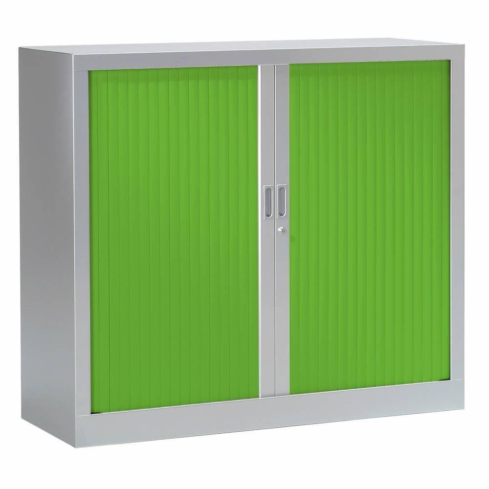 Armoire monobloc fun h100xl120xp43 cm 2 tab. Aluminium rideaux vert
