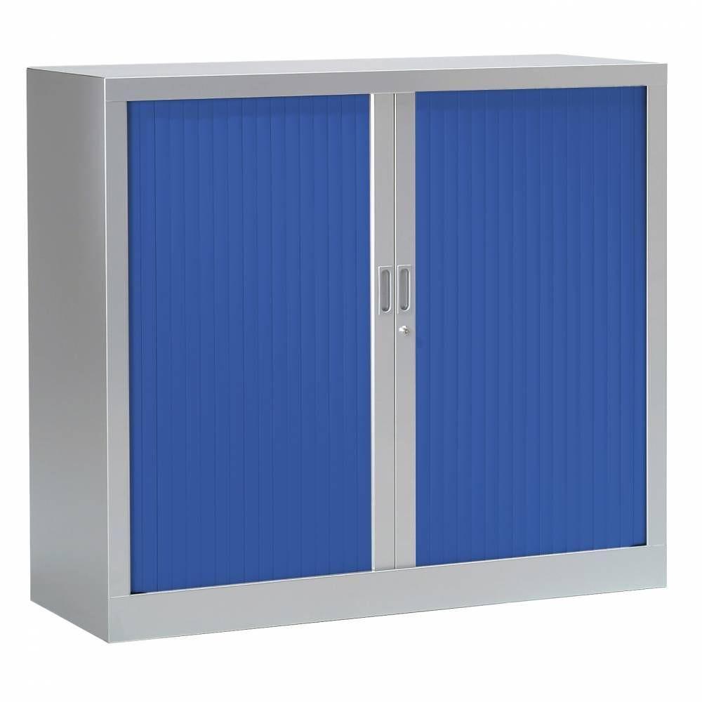 Armoire monobloc fun h100xl120xp43 cm 2 tab. Aluminium rideaux bleu
