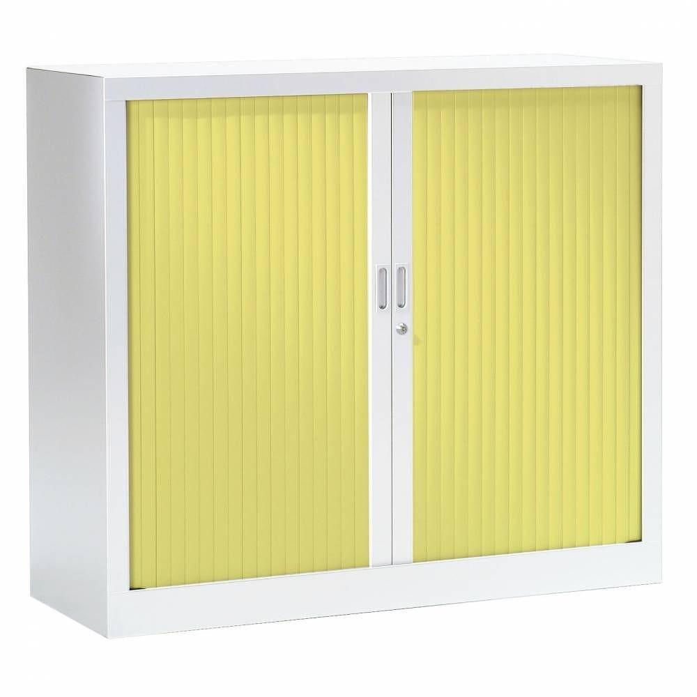 Armoire monobloc fun h100xl120xp43 cm 2 tab. Blanc rideaux anis