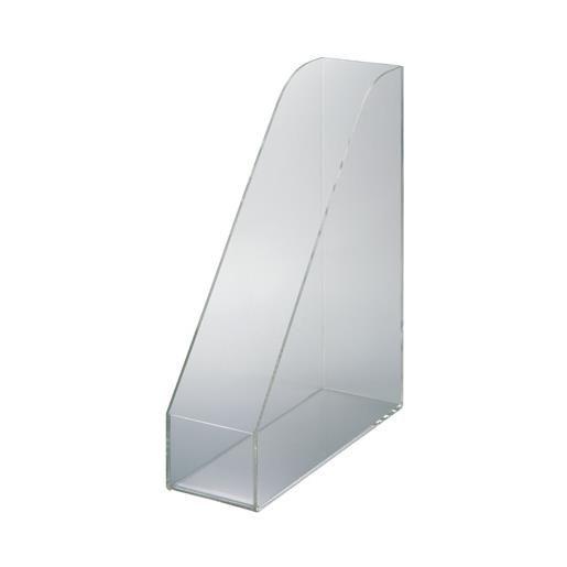 Porte-revues acrylique din a4 transparent (photo)