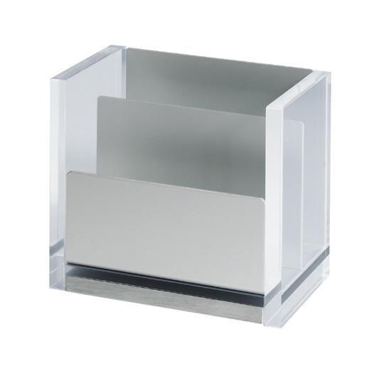 Bac à notes acrylique transparent (photo)