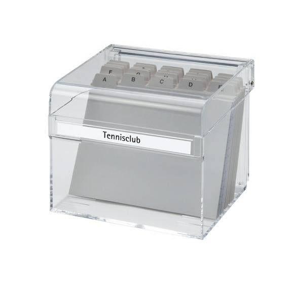 Boîte à fiches acrylique a6 transparent (photo)