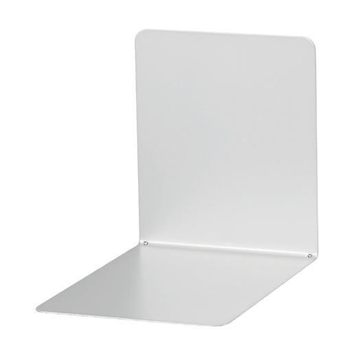 Serre-livres en métal large 14 x 12 x 14 cm coloris magnétique gris - par 2