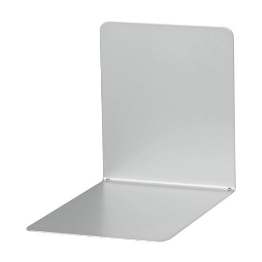 Serre-livres en métal large 14 x 12 x 14 cm coloris magnétique argent - par 2