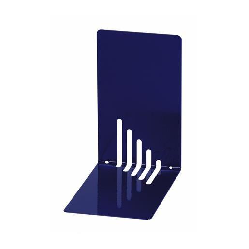 Serre-livres en métal étroit 14 x 8,5 x 14 cm coloris bleu - par 2 (photo)