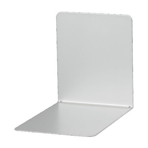 Serre-livres en métal large 14 x 12 x 14 cm coloris argent - par 2 (photo)