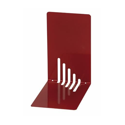 Serre-livres en métal étroit 14 x 8,5 x 14 cm coloris rouge - par 2 (photo)