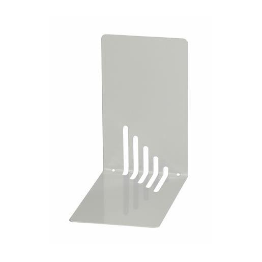Serre-livres en métal étroit 14 x 8,5 x 14 cm coloris gris - par 2 (photo)