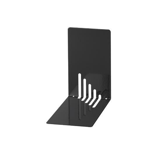 Serre-livres en métal étroit 14 x 8,5 x 14 cm coloris noir - par 2 (photo)