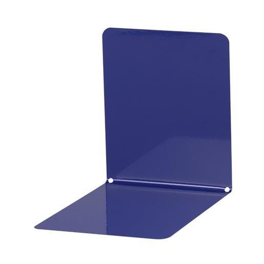 Serre-livres en métal large 14 x 12 x 14 cm coloris bleu - par 2