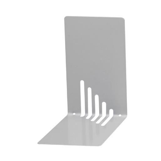 Serre-livres en métal étroit 14 x 8,5 x 14 cm coloris argent - par 2 (photo)