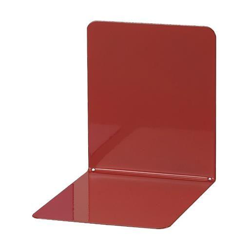 Serre-livres en métal large 14 x 12 x 14 cm coloris rouge - par 2