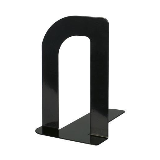 Serre-livres en métal design étroit 12 x 8,5 x 13,5 cm coloris noir - par 2