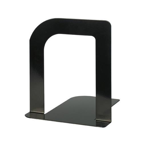 Serre-livres en métal design large 13 x 12 x 14 cm coloris noir - par 2 (photo)