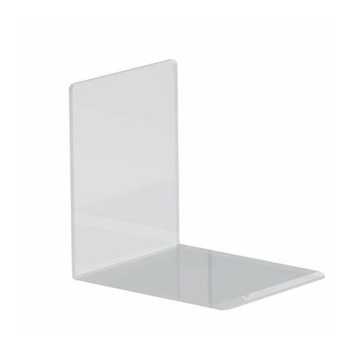 Serre-livres en acrylique 10 x 8 x 10 cm coloris transparent - par 2 (photo)