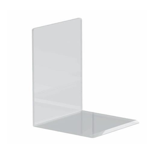 Serre-livres en acrylique 10 x 10 x 13 cm coloris transparent - par 2 (photo)