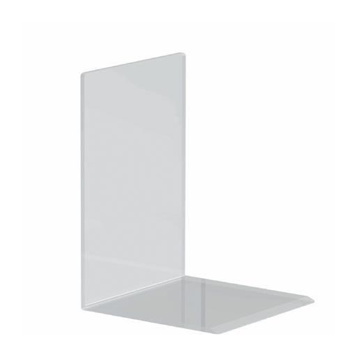 Serre-livres en acrylique 12 x 12 x 17 cm coloris transparent - par 2 (photo)
