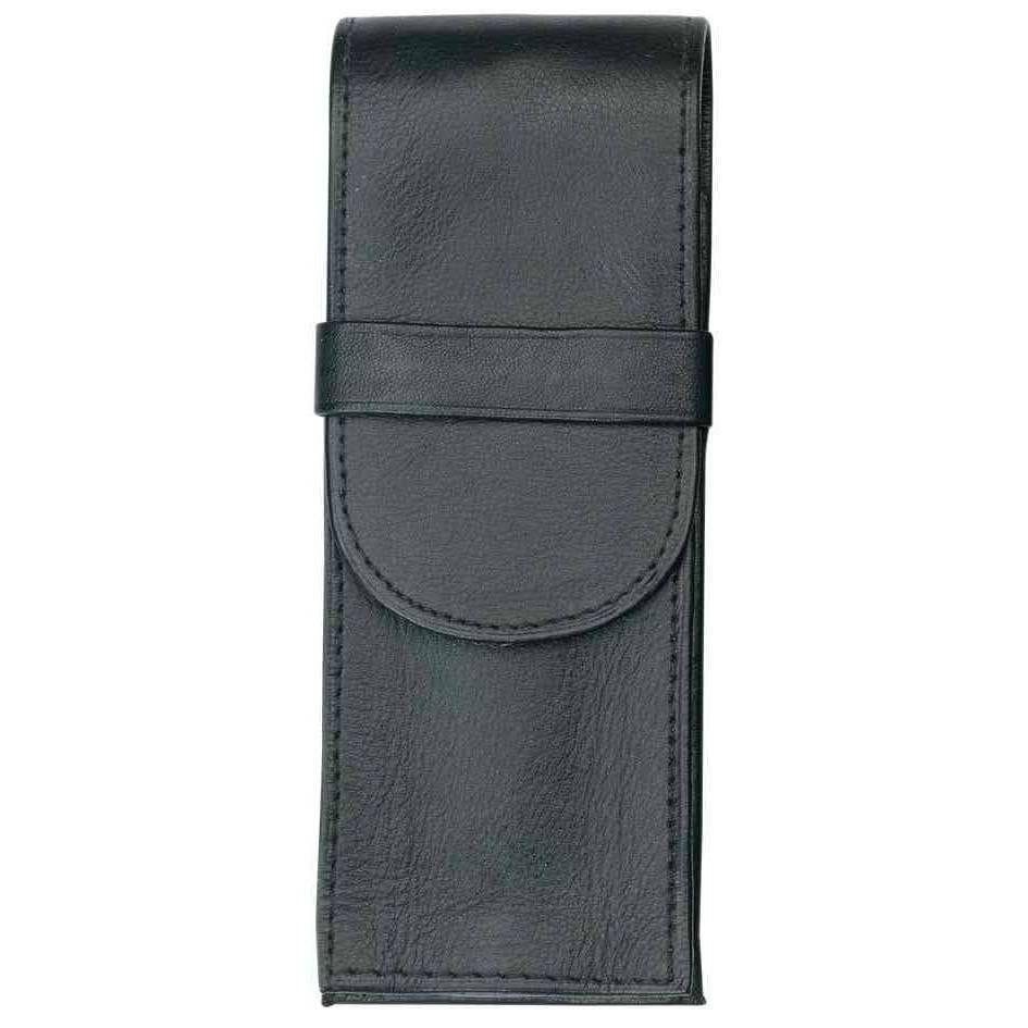 Etui pour 3 stylos en cuir 150 x 57 mm noir (livré vide) (photo)