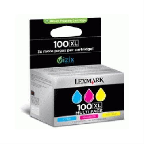 Lexmark 100xl 014n0850e cartouche jet d'encre d'origine combo pack couleur