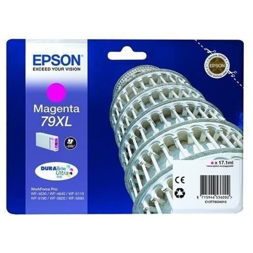 Epson cartouche jet d'encre d'origine durabrite 79xl magenta