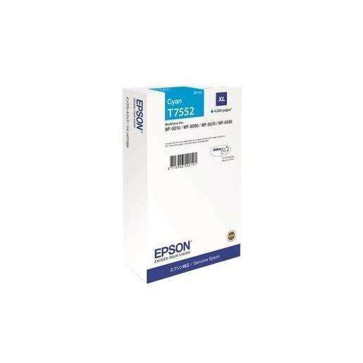 Epson cartouche jet d'encre d'origine cyan xl c13t755240