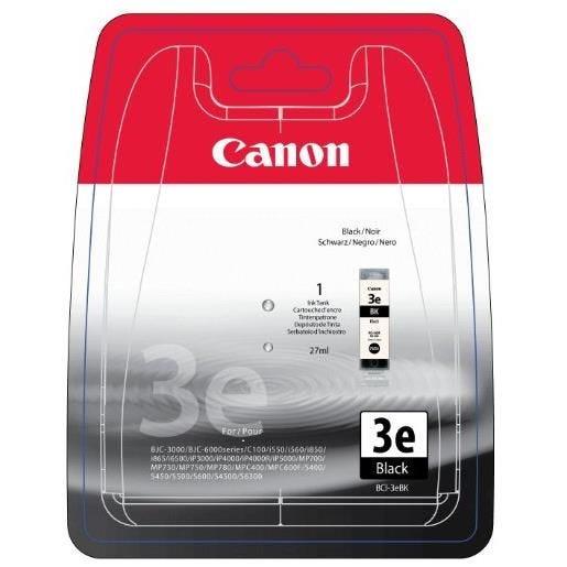 Canon cartouche jet d'encre d'origine bci3-e blk coloris noir