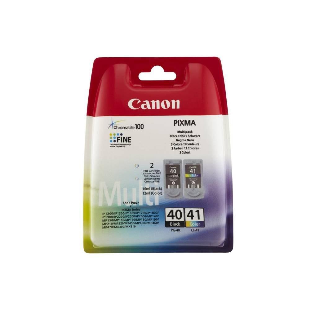 Canon pack jet d'encre d'origine pg-40/cl-4 coloris noir et couleur