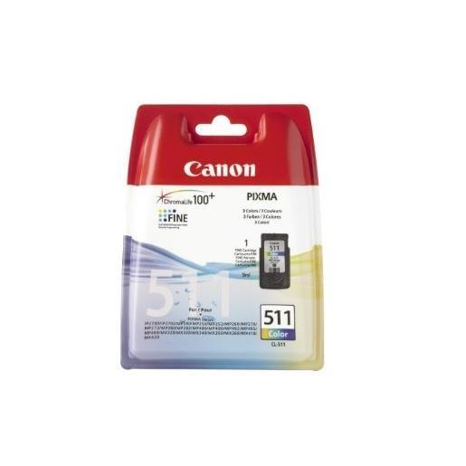 Canon cartouche jet d'encre d'origine cl-511 couleur