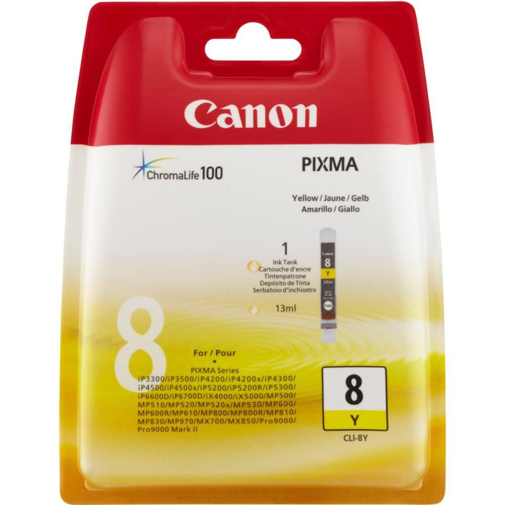 Canon cartouche jet d'encre d'origine cli-8 y jaune
