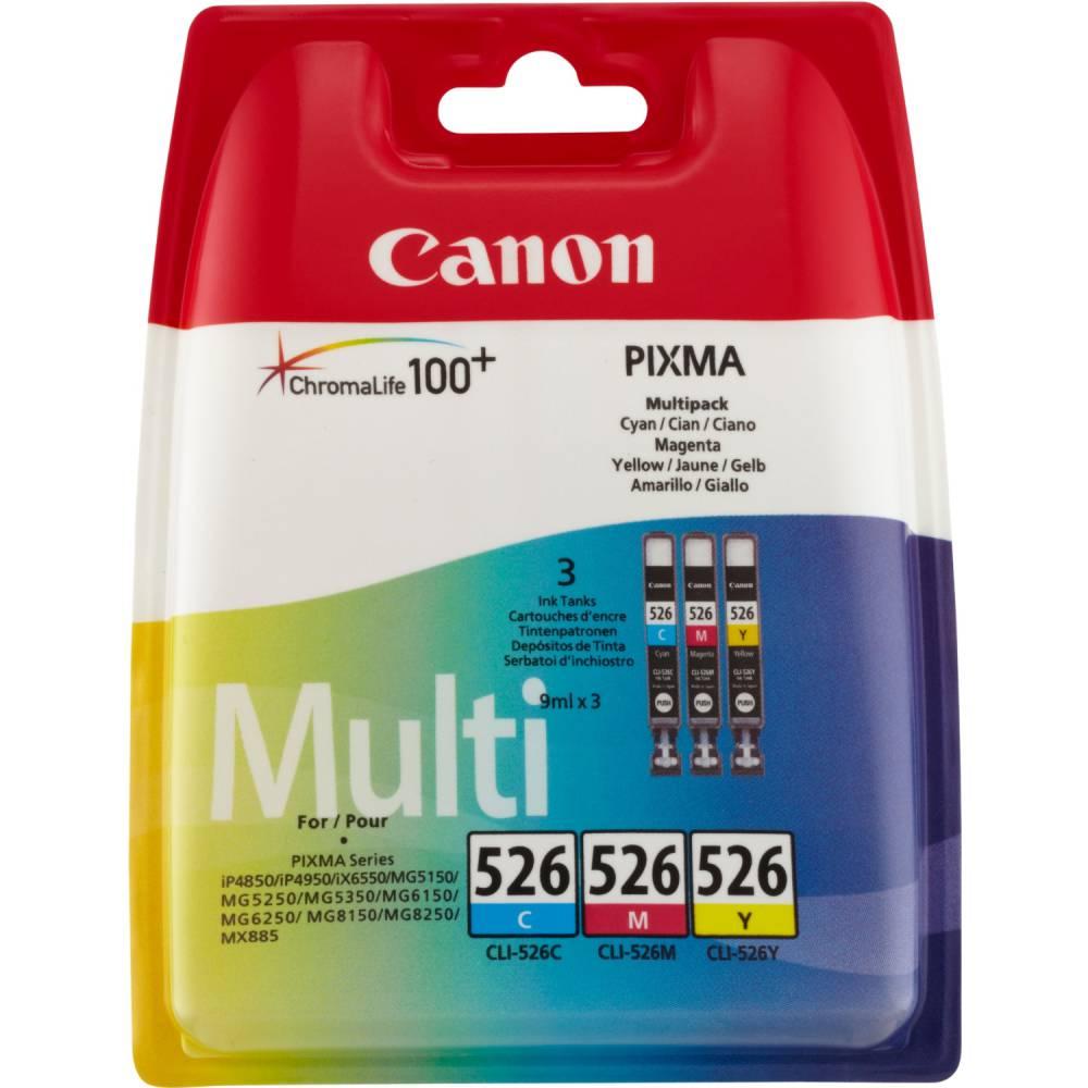 Canon cartouche jet d'encre d'origine cli-526 c/m/y 3 couleurs