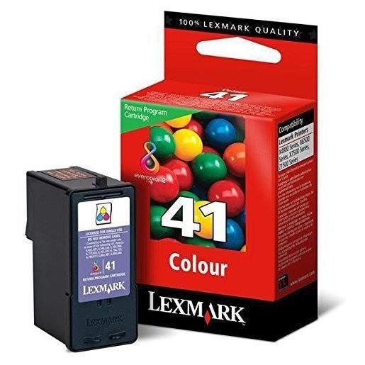Lexmark cartouche d'encre d'origine n°41 18y0141e lrp 210 pages couleur c/m/y