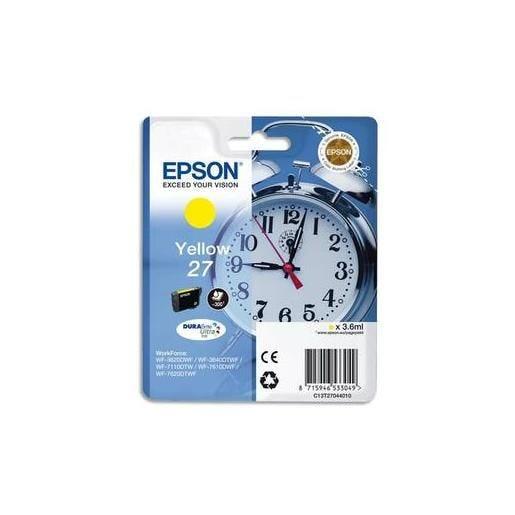 Epson cartouche jet d'encre d'origine jaune c13t27044010
