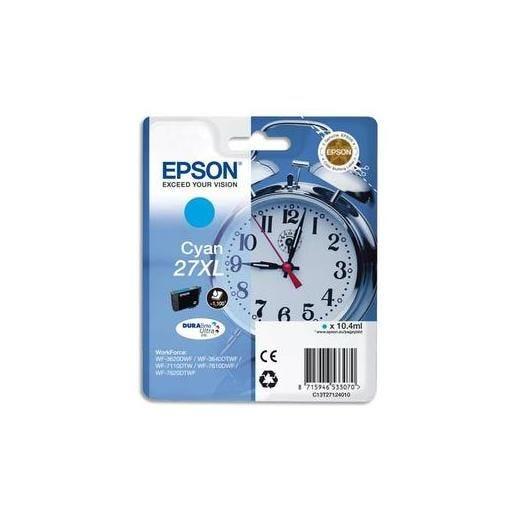 Epson cartouche jet d'encre d'origine cyan xl c13t27124010