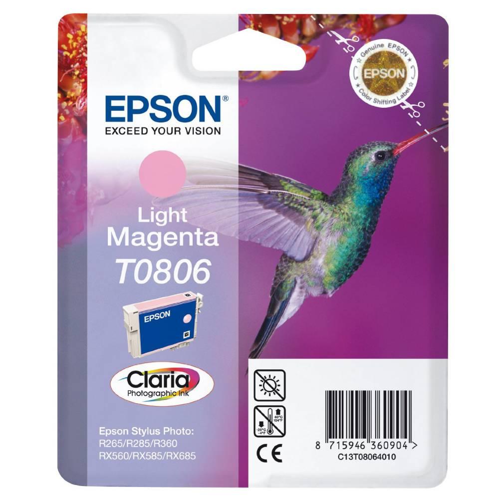 Epson cartouche jet d'encre d'origine magenta clair c13t080640