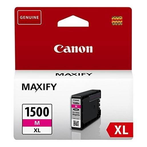Canon cartouche jet d'encre d'origine pgi-1500xl m maxify 12 ml magenta