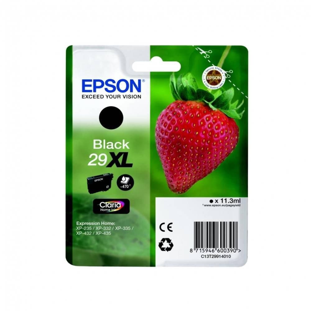 Epson cartouche d'encre d'origine coloris noir t2991 xl (11 ml) capacité 470 p.