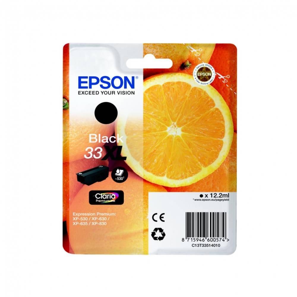 Epson cartouche d'encre d'origine coloris noir t3351 (12 ml) capacité 530 pages
