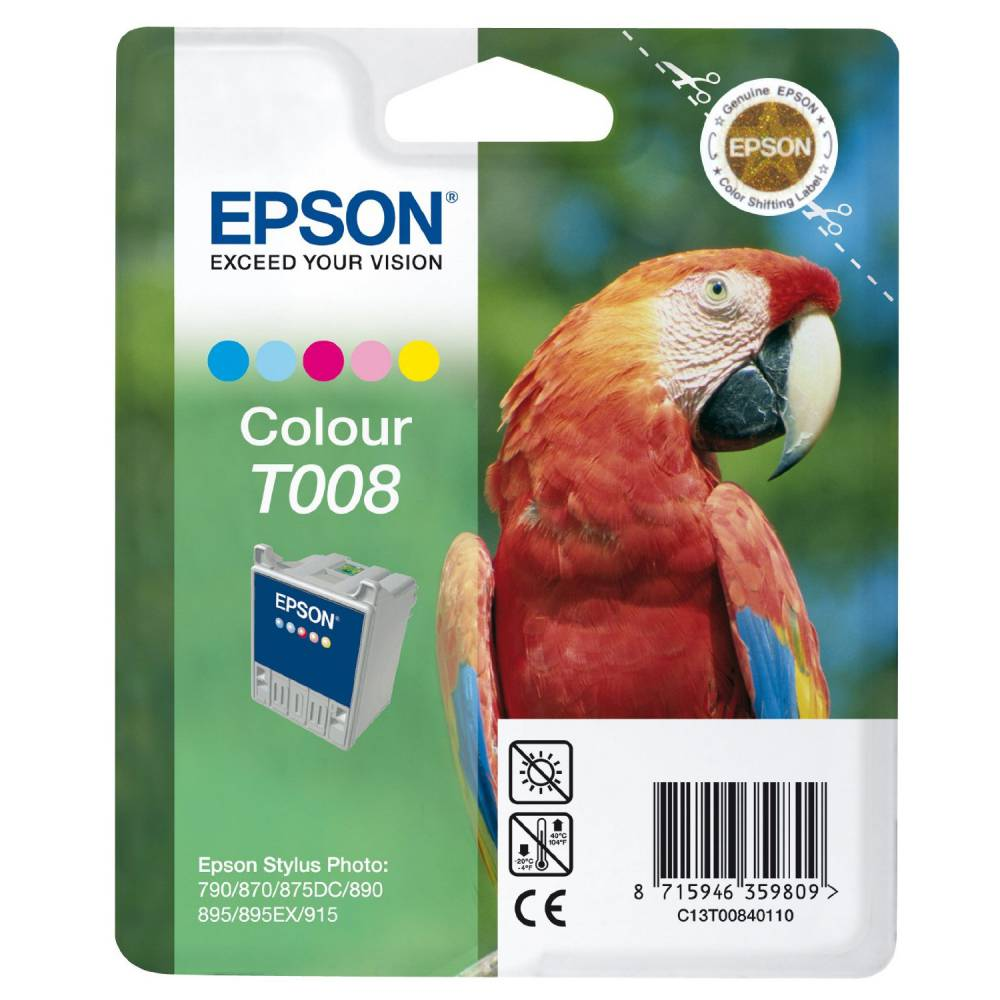 Epson cartouche jet d'encre d'origine jet d'encre couleur pour sp870 t008401