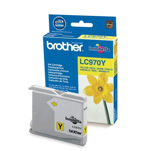 Brother cartouche jet d'encre d'origine dcp-135c/mfc-235c jaune (photo)