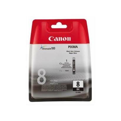 Canon cartouche jet d'encre d'origine cli8bk coloris noir