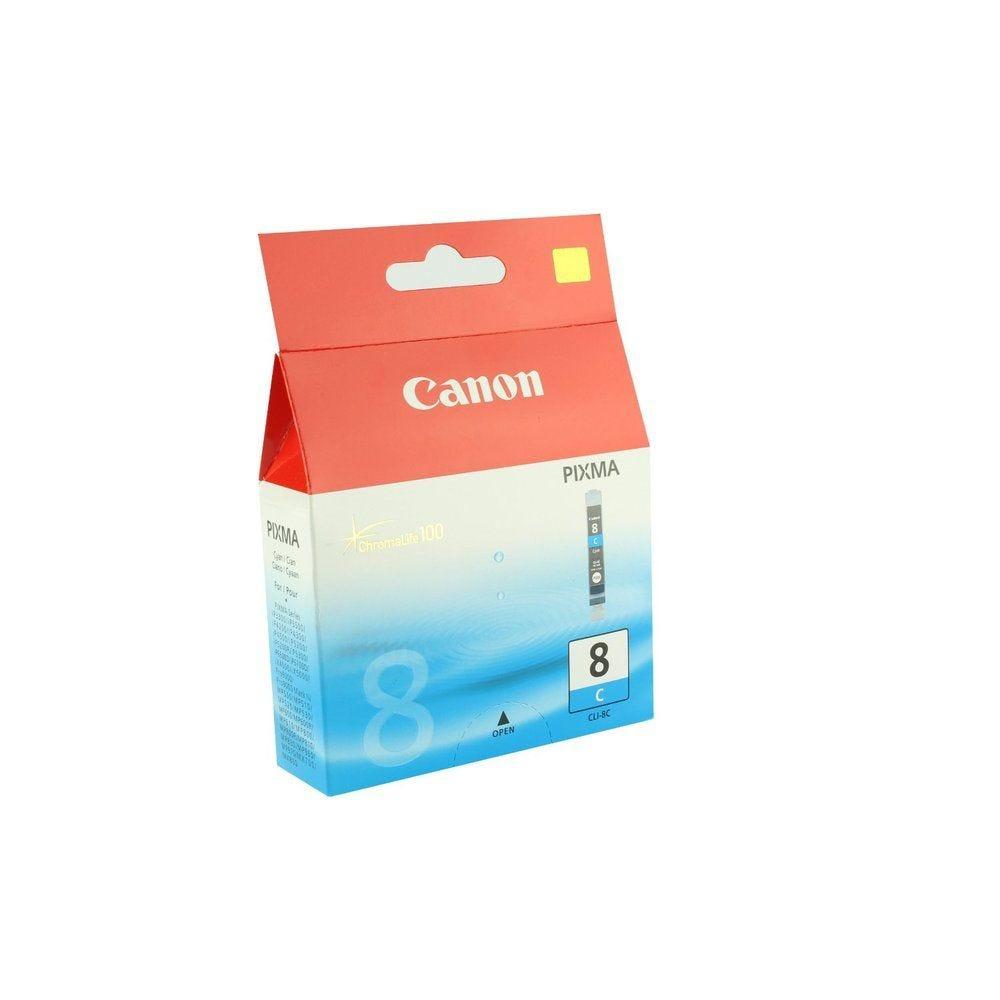 Canon cartouche jet d'encre d'origine cli-8c cyan pixma ip4200/ip5200/ip5200r