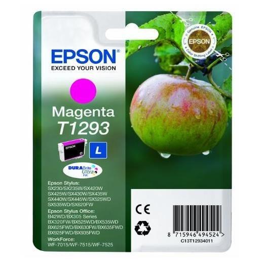 Epson cartouche jet d'encre d'origine durabrite t1293 7 ml magenta