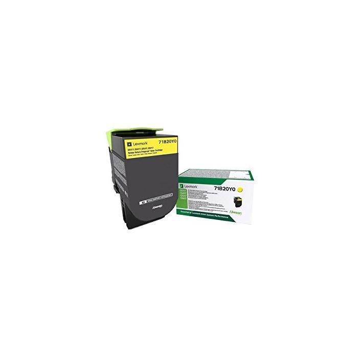 Toner laser original lrp 71b20y0 2300 pages jaune
