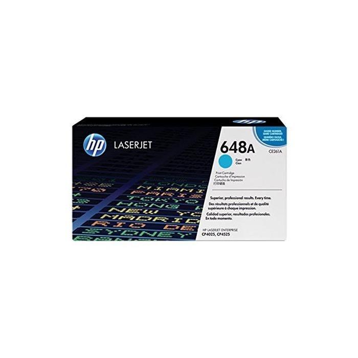 Cartouche laser n° 648a cyan ce261a