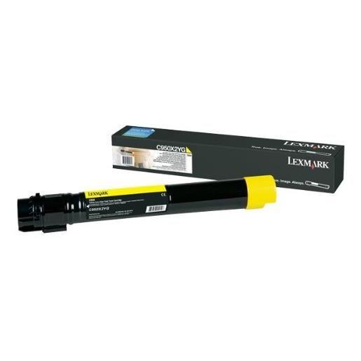 Cartouche de toner lccp, lrp - pour c950de jaune